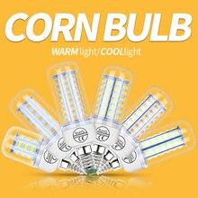 LED 220V Кукуруза Лампа E27 Лампа E14 Light Led B22 Ampoule GU10 Lampara G9 Spotlight Candel Bulb Home Bombilla 24 36 48 56 69 72 Светодиоды