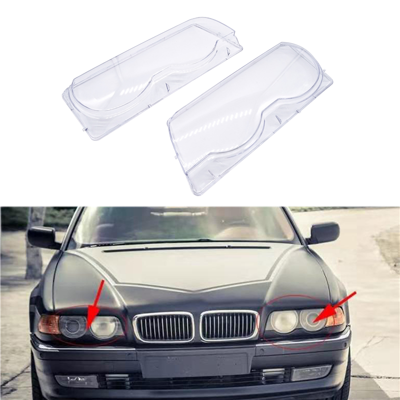 Image 2 - Car Headlight Glass Cover Clear Transparent Automobile Left Right Headlamp Head Light Cover Case for BMW E38 728i 730iShell   -