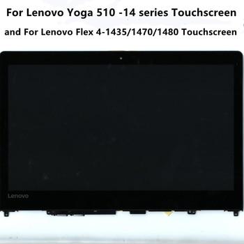 "14""Laptop LCD Screen N140BGA-EA3 5D10L46000 For Lenovo YOGA 510-14AST IKB ISK Flex 4-1435 1470 1480 Touch Screen Assembly 1"