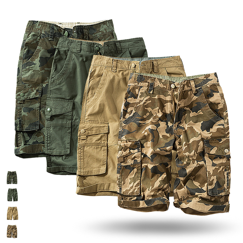 2020 Mens Military Cargo Shorts Brand New Army Camouflage Tactical Shorts Men Cotton Loose Work Casual Short Pants Plus Size