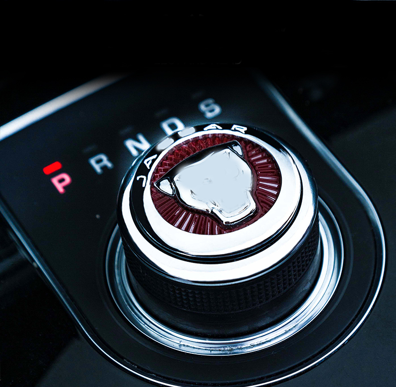 ABS Chrome Gear Shift Knob Cover Decoration Trim Sticker For Jaguar XF XE XJ XJL F-Pace X761 2016 Car Accessories