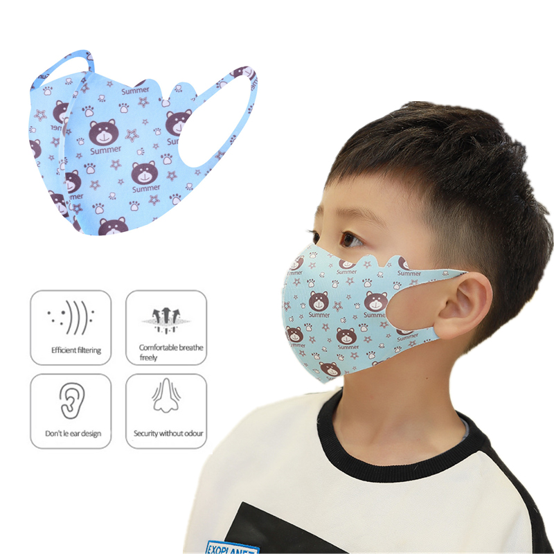 1pc PM2.5 Pattern Child Face Masks For Girl Boy Kids Washable Reusable Anti Cotton Mouth Masks Anti Dust Earloop Mask