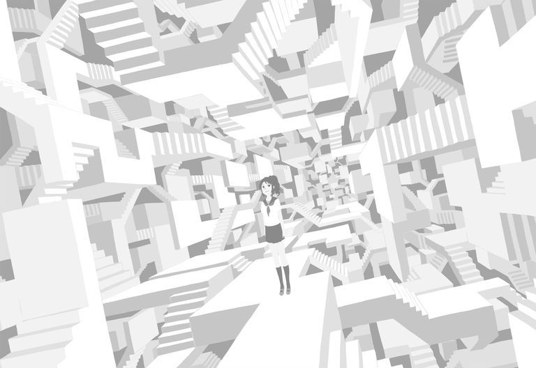 【P站美图】色彩无限。黑白插画特辑