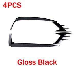 Image 2 - 4 pçs/set abs frente luz de nevoeiro lâmpada sobrancelha capa guarnição para honda accord 2018 2019 sport sedan 4 door gloss preto estilo do carro