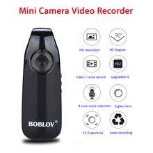 Boblov 007 מיני מצלמות וידאו קול מקליט משטרת עט לנטנה גוף שחוק מצלמה 32GB תמונת מצב לולאה הקלטת מצלמת זיהוי תנועה