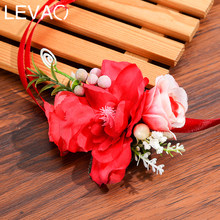 Levao Colorful Flower Headband Newborn Ribbon Bow Floral Crown Head Band Bohemia Garland Wreath Hairband Girls Hair Accessories(China)