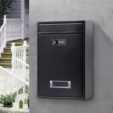 12 дюймов ментальный кодовый замок винтажный Drop Letterbox Настенный навесной замок почтовый ящик с ключами ящик для газет