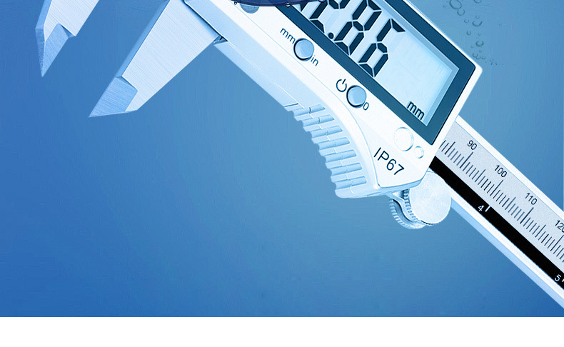 caliper digital display lcd mea