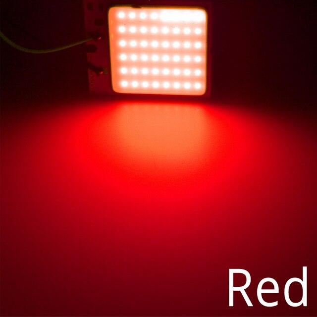 Белый, красный, синий T10 W5w Cob 24SMD 36SMD Автомобильный светодиодный панельный светильник для автомобиля, лампа для чтения в салоне автомобиля, купольная гирлянда BA9S DC 12v - Испускаемый цвет: Красный