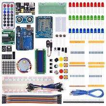 WeiKedz 2020 самый полный стартовый набор для Arduino R3 с учебным руководством/1602 LCD / R3 плата/резистор