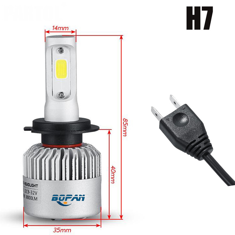 Image 4 - 2pcs Auto Car led Headlight 36W 12000LM Super Bright 3 Sides S2 LED HIR2 Led Bulbs Bullet Super Bright turbo Car Light led Lamp-in Car Headlight Bulbs(LED) from Automobiles & Motorcycles