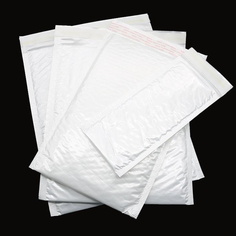 10 Pieces / Bag Office Mail Express White Bag Bubble Envelope Air Bubble Foil Envelope Anti-Vibration Stationery Packaging