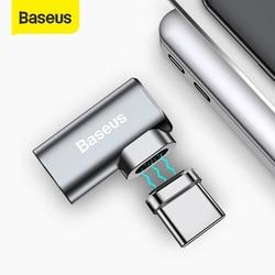 Baseus 86W magnetyczny Adapter USB C dla MacBook Pro 15 cal 6 pinów łokieć USB typu C złącze ładowania do Samsung USB Adapter|Adaptery do telefonów komórkowych|Telefony komórkowe i telekomunikacja -