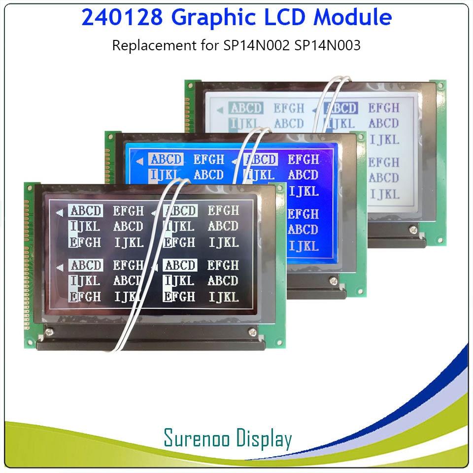 Módulo LCD 240128*240, repuesto de pantalla de repuesto para HITACHI SP14N002 SP14N003 con retroiluminación incorporada, controlador LC7981 Para Arduino UNO R3 Mega2560 TFT LCD, pantalla de visualización táctil, pantalla táctil de 2,4 pulgadas, módulo LCD, 18 bits, 262.000 pantallas diferentes