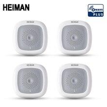 HEIMAN 4pcs Z-wave Temperature & Humidity sensor temp monitoring moisture Z wave 868MHz fire alarm smart heat detector