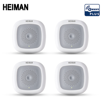 HEIMAN 4pcs Z-wave Temperature & Humidity sensor temp monitoring moisture Z wave 868MHz fire alarm smart heat detector