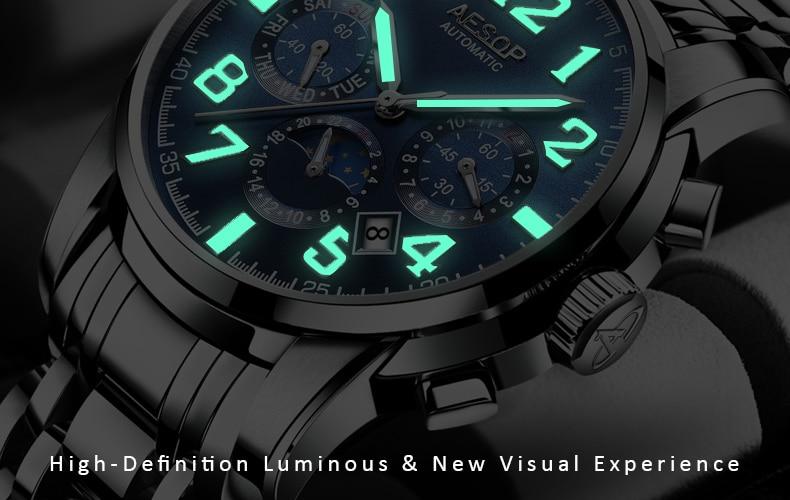 H3873d690dcf04861ae1acf088a2da39cP AESOP Luminous Automatic Mechanical Watch Men Luxury Brand Business Waterproof Stainless Steel Male Clock Relogio Masculino 2019