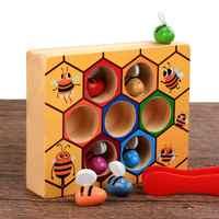 Montessori jouets éducatifs en bois pour petites abeilles pour enfants jouets interactifs plateau de jeu pour enfants jouets drôles