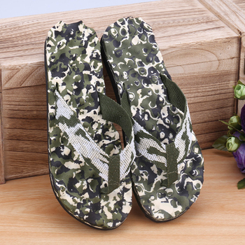 Mens Summer Beach Wear Flip Plops Outdoor Wearing Slippers Camouflage Flops Shoes Sandals Slipper