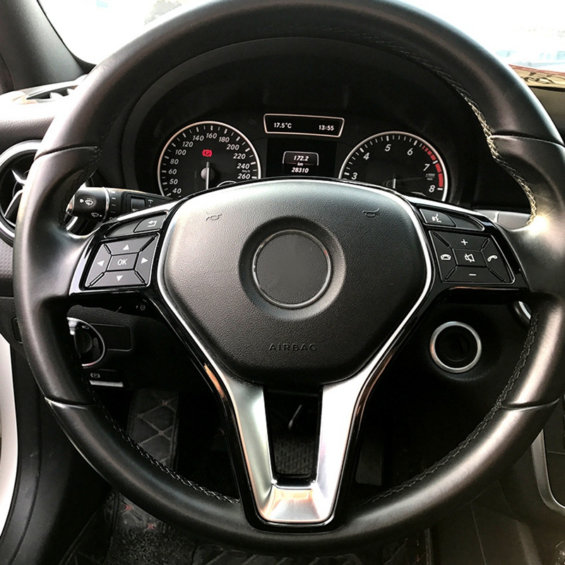 Car Steering Wheel Frame Trim Cover For Mercedes Benz A B C E Cla Cls Gla Glk Class W176 W246 W204 W207 W212 W117 W218 X156 X2