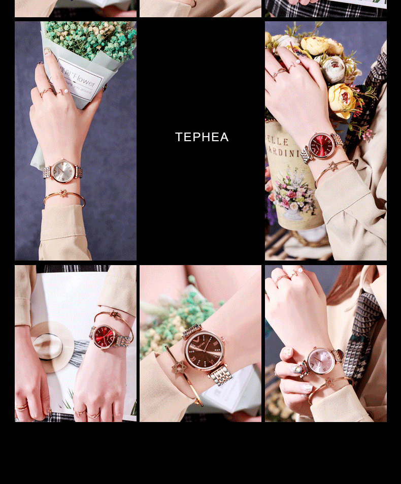 Tephea Rose Gold Watches for Women