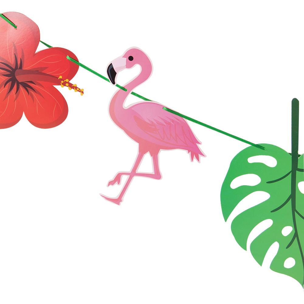 Flamingo Aloha Garland Banner Birthday Beach Luau Pool Hawaiian Party Summer Party Instagram style Decor in Banners Streamers Confetti from Home Garden