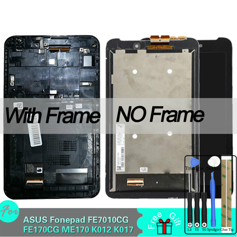 LCD for <font><b>ASUS</b></font> Fonepad FE7010CG FE170CG ME170 <font><b>K012</b></font> K017 Display Touch Screen Digitizer Assembly Replacement with Tools image