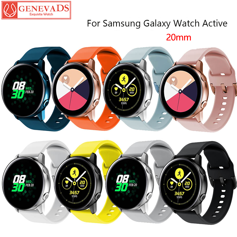 20mm Silicone Watchbands For Samsung Galaxy Watch Active 2 Bracelet Smart Watch Strap For Samsung Galaxy Watch 42mm Watch Strap