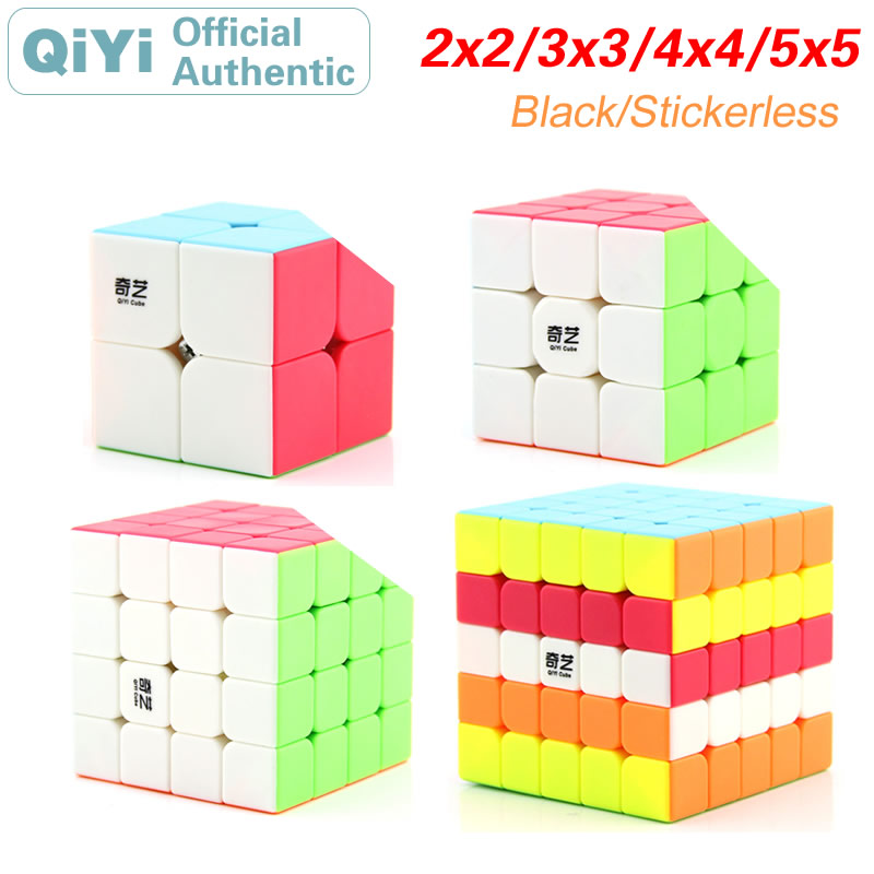 QiYi 2x2x2 3x3x3, 4x4x4, 5x5x5, волшебный куб, 2x2/oneplus 3/OnePlus x 3 4x4 5x5 Neo Скорость кубики Пазлы антистресс развивающие игрушки для детей подарок