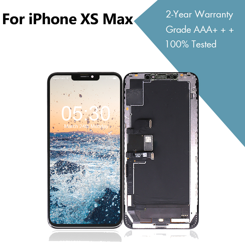 Assembly-Panel Display Lcd-Screen iPhone Xs Digitizer Touch Original for Max 10pcs/lotsused