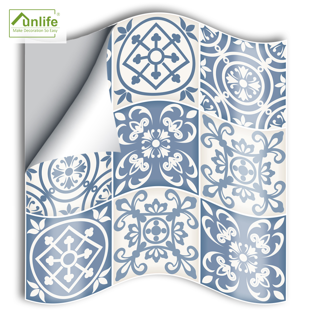 Funlife 25pcs Moroccan Retro Toilet paper Home Improvement Waterproof Self adhesive Wall Tile Sticker Kitchen Bathroom Furniture