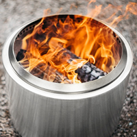 Stainless Steel Winter Heating Stove Suitable For Indoor, Camping, Charcoal Outdoor Wood Stove Portable Grilling Stove