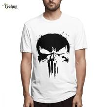 High-Q For Male Punisher Skull T shirt Homme Tee Shirt 2019 New Top Design Birthday gift