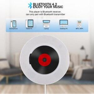 Image 3 - Qosea ポータブル壁マウント Bluetooth CD プレーヤー USB ドライブ Led ディスプレイハイファイスピーカーオーディオリモコン Fm ラジオ内蔵