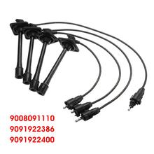 4pcs Ignition Spark Plugs Wire Cable 9091922400 For Toyota Camry Solara Rav4 L4 2.2L 1997 1998 1999 2000 2001
