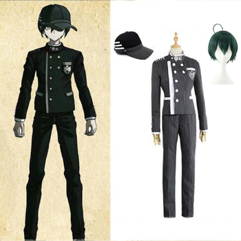 Custom Made New Danganronpa V3 Cosplay Saihara Shuichi Cosplay Costume Anime Game School Uniform Suit Outfit Coat + Pants + Hat pocket monster cosplay costume pokemon go cosplay clothing male trainer team valor game anime outfit three color custom made