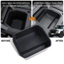 Auto armlehne box zentralen sekundäre lagerung handschuh telefon halter container Für Land Rover Defender 110 2020 auto styling