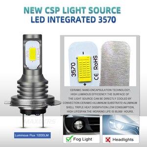 Image 2 - 2 шт., Автомобильные светодиодные лампы H1 H3 H7 H8 H11 9005 HB3 9006 HB4 H16 3570