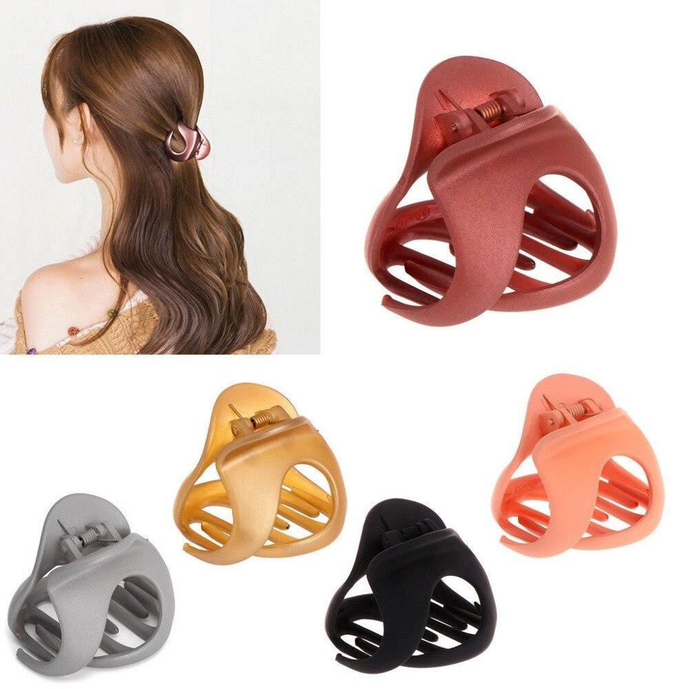 2020 Korean Fashion Design Women Hair Claw Crab Solid Color Retro Scrub Hair Clips Hair Claws For Women