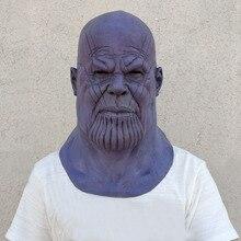 Купить с кэшбэком Deluxe Thanos Mask Infinity Gauntlet Infinity War Gloves Helmet Cosplay Thanos Masks Halloween Party Collection Props