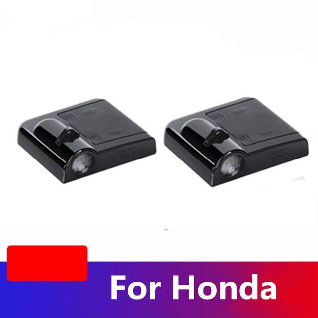 For Honda Civic 10th Jazz Fit CR V CRV Accord Pilot Passport HR V Insight Led Car Door Welcome Light Projector Logo Laser Light