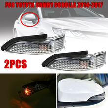 SUHU 1 Pair Side Mirror Turn Signal Light Indicator for Toyota Camry Corolla 2014-2018 Side Turn Signal Lights Car Accessories