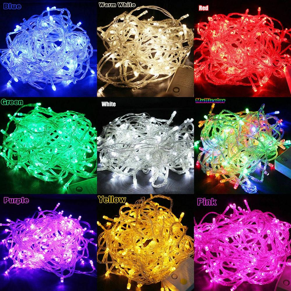 String Light 100LED 10M Christmas/Wedding/Party Decoration Lights AC 110V 220V Outdoor Waterproof Led Lamp 9 Colors Led Dropship