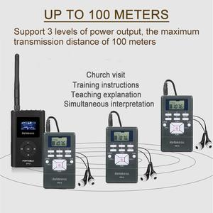 Image 2 - 1 FM Transmitter FT11+10Pcs FM Radio Receiver PR13 Wireless Voice Transmission System For Guiding Church Meeting Training