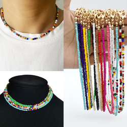 Handmade Seed Bead Choker New Arrival Colorful Bohemian Colorful Beaded Short Collar Necklace For Women Beach Party Jewelry Gift