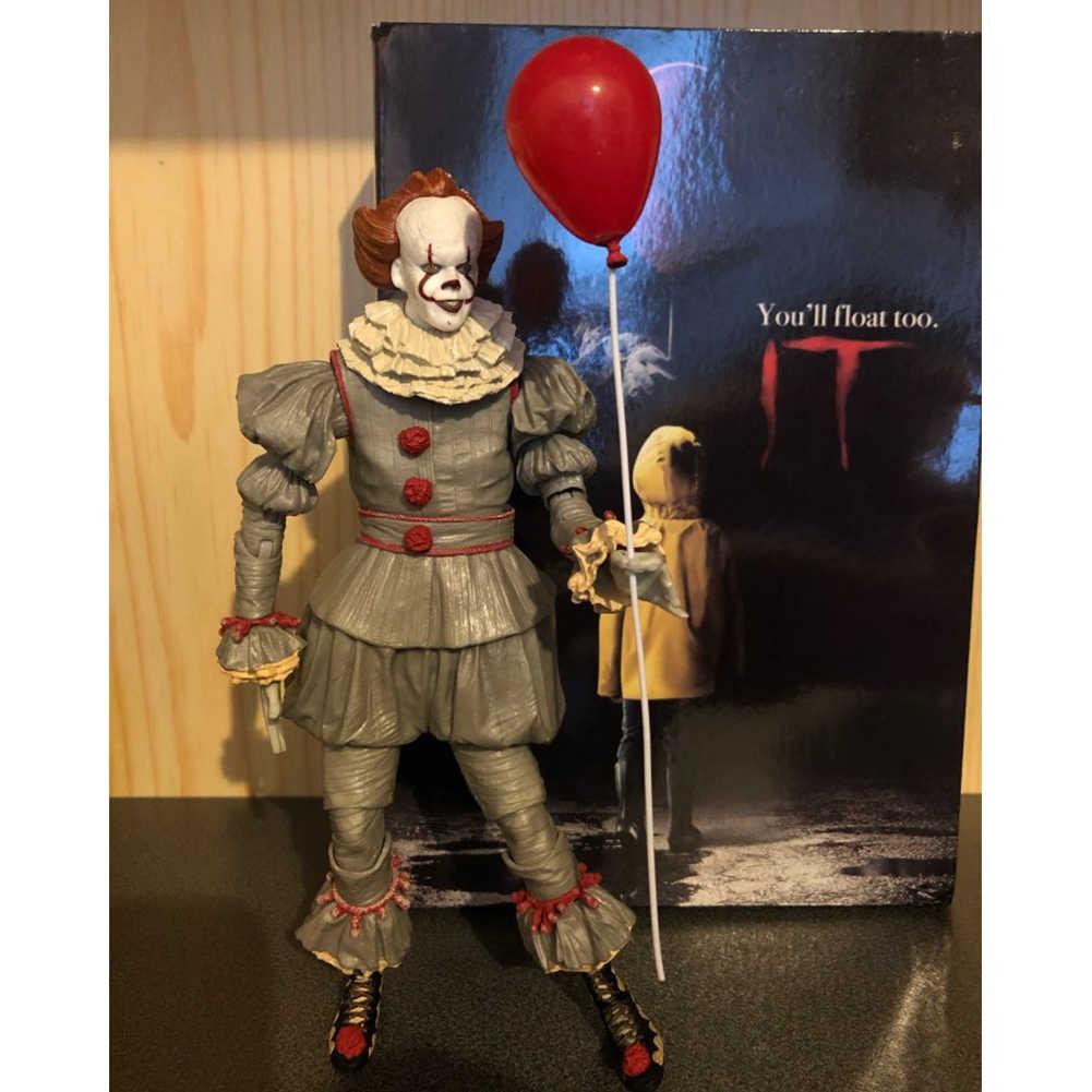 재고 있음 원본 NECA Pennywise 조커 액션 인형 장난감 인형 공포 선물 할로윈