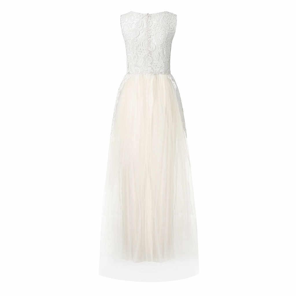 נשים אופנה שמלה פרחוני תחרת אפליקציות הכלה שמלת חדש שווי שרוולי סדק צד כפתורים אלגנטי שמלות כדור שמלת 2019 z0827