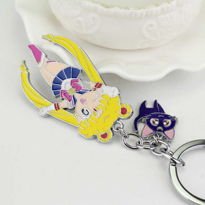 Sailor Moon Keychain Sailor Moon  Keychain Anime Cosplay Character Props Anime Accessory Accessories  Plating Material