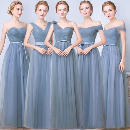 Bridesmaid Dress Long Sleeves Dusty Rose Bridesmaid Dresses Vestido Azul Marino Wedding Party Dress Woman Dresses For Wedding