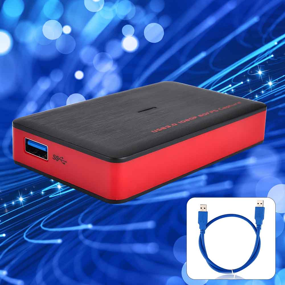 Adapter Game Portable 1080P HD PC Recorder Box Audio <font><b>HDMI</b></font> To <font><b>USB</b></font> <font><b>3.0</b></font> Video <font><b>Capture</b></font> <font><b>Card</b></font> Plug And Play For Mac For Windows image